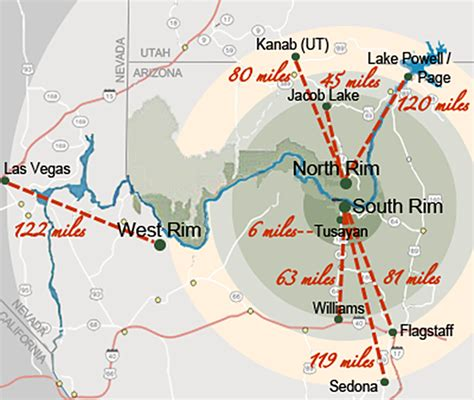 grand canyon  maps directions tips