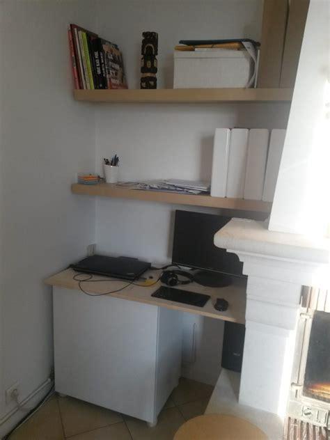 le bureau ikea un coin bureau dans le salon bidouilles ikea