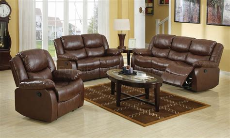 brown leather recliner sofa set brown bonded leather match modern reclining sofa