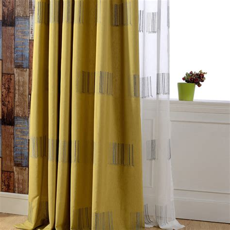 olive green geometric chartreuse curtains blackout