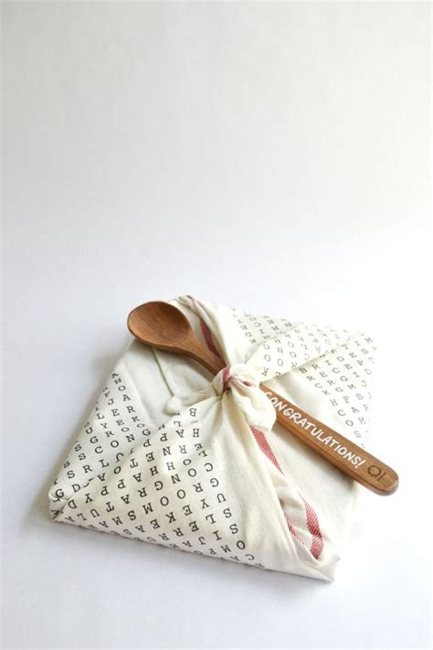 cute  practical kitchen tea gift wrapping idea