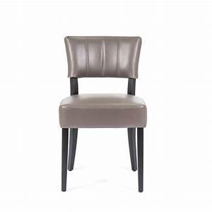 chaise de salle a manger en synthetique et bois steffi 2 With salle À manger contemporaineavec chaise couleur pied bois