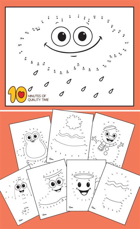 winter dot  dot worksheets  minutes  quality time