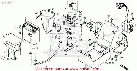 Honda Rebel Schematic by Honda Cmx450c Rebel 450 1986 G Usa Battery Schematic