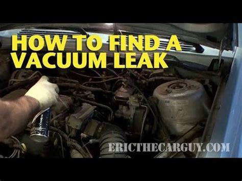 find  vacuum leak ericthecarguy youtube