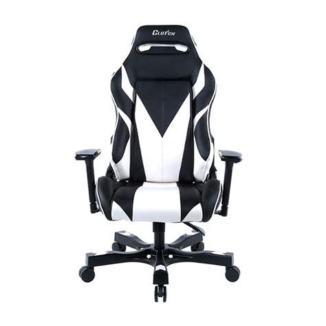 gear series bravo black white gaming chair clutch chairz