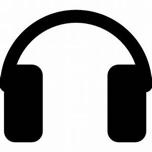 Headphones silhouette Icons | Free Download