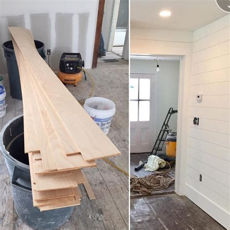 Plywood For Shiplap by I M Excited To Show You What Starts Out As 1 4 Inch Thick