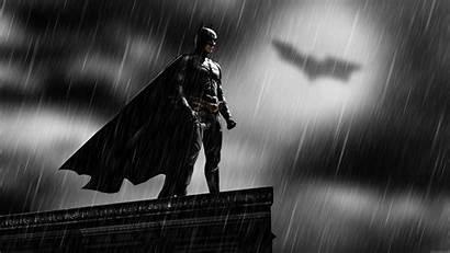 Batman Bat Wallpapers Signal Rain Desktop Rooftops