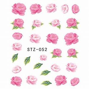 1 Sheets Hot Designs Pink Rose Beauty Designs Nail Decals ...