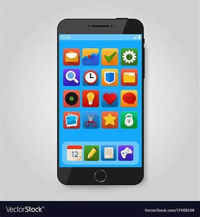 Icon Phone Smartphone App Mobile Smart Vector