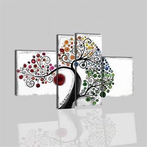 Quadri moderni astratti dipinti a mano olio su tela for Quadri bianco e nero moderni