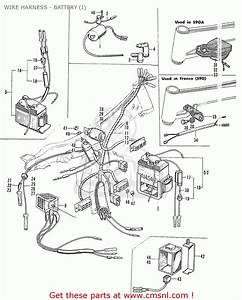 Honda S90a Super Sport General Export Wire Harness - Battery  I  - Buy Wire Harness