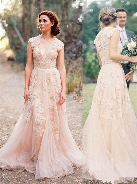 Colored Wedding Dresseslace Wedding Dressvintage Wedding