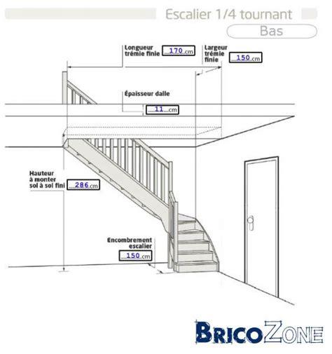 escalier 1 4 ou quart tournant