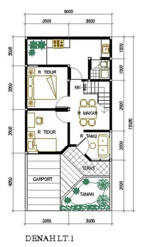 desain  denah rumah minimalis ukuran  wallpaper
