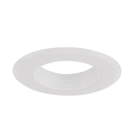 envirolite 6 in decorative white baffle cone on white