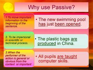 The Passive Voice  Formation Of The Passive Voice To Be
