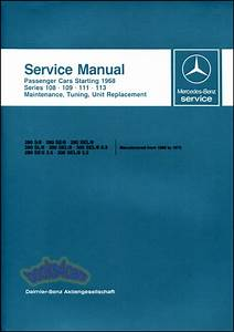 Mercedes 280sl Manuals At Books4cars Com