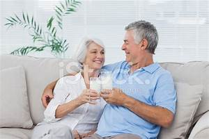 Couple Clinking Glasses of Milk Stock Photos - FreeImages.com
