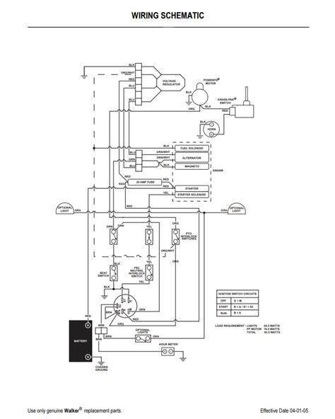Walker Mower Wiring Schematic by 2005 To 2011 Walker Ms Wiring Schematic Propartsdirect