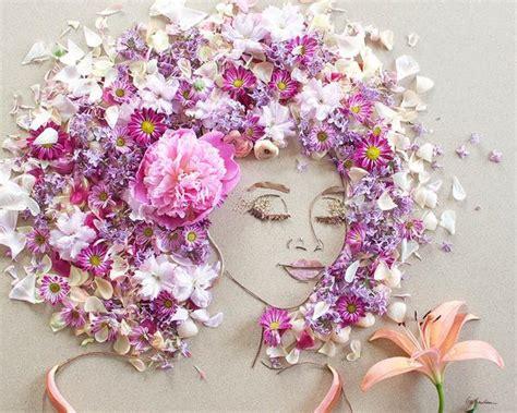 sister golden pink breeze flower face print
