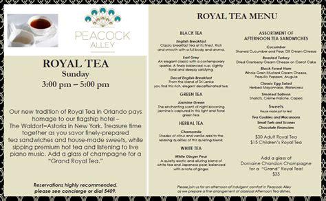 tea menu perfect mommy daughter day royal tea at waldorf astoria orlando the disney food blog