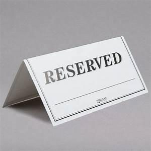 6, U0026quot, X, 3, U0026quot, Table, Tent, Sign, U0026quot, Reserved, U0026quot, -, Double-sided, Pack