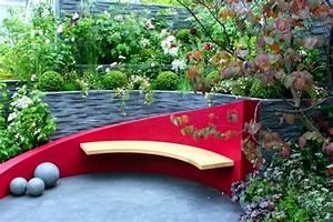 Wooden Bench 48 creative ideas garden design, stone and