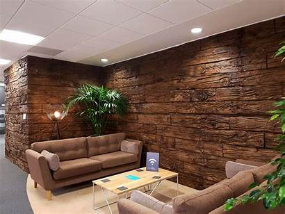Office Panel Timber Panels Sleeper Reception Weathered