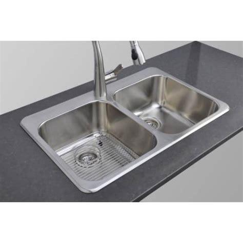best gauge for stainless steel sink wells sinkware 18 gauge double bowl topmount stainless