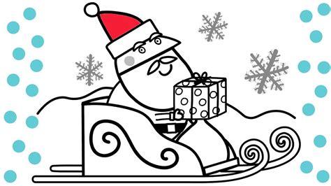 Peppa Pig Santa Christmas Coloring Book Pages Fun Coloring