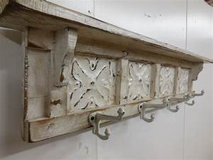 french country coat rack shabby chic coat rack rustic coat With porte manteau mural vintage