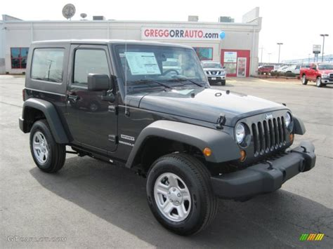 jeep dark gray 2010 dark charcoal pearl jeep wrangler sport 4x4 27169365