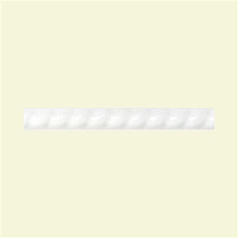 daltile polaris gloss white 1 2 in x 8 in glazed ceramic