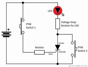 Thyristor Led Torch Light Circuit