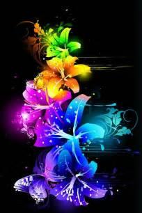 Neon Rainbow Flowers
