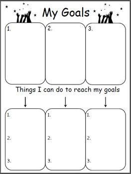 planning   goals goals worksheet student goals