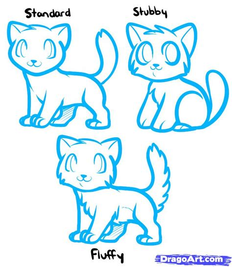 draw anime cats anime cats step  step anime