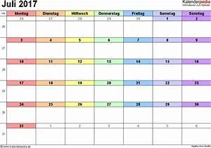 Kalender Juni 2017 Zum Ausdrucken : kalender juli 2017 als word vorlagen ~ Whattoseeinmadrid.com Haus und Dekorationen