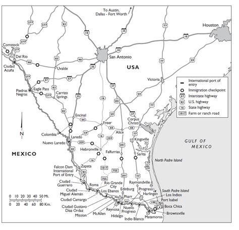 Texas Border Patrol Checkpoints Map