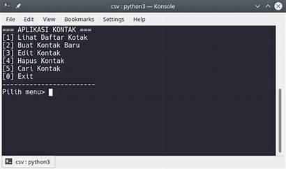 Membuat Python Csv Aplikasi Belajar Cruds Dengan