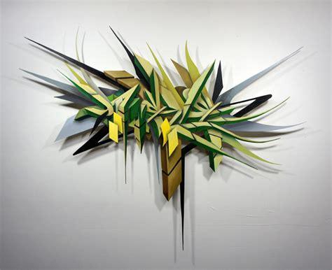 Victor Malagon's Wood Cut Graffiti