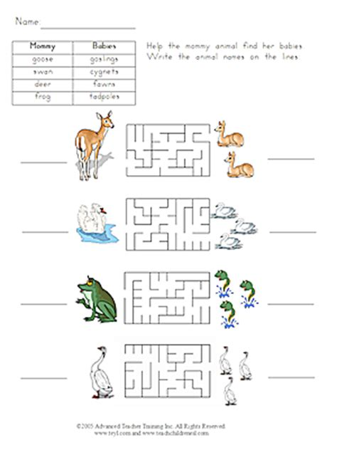 baby animals names worksheet baby animals 4 free esl worksheet