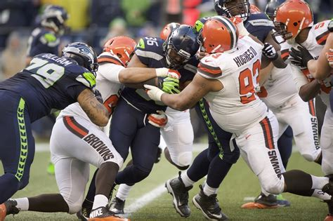 cleveland browns fell   seattle seahawks