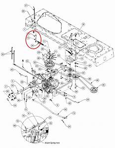 Super Lt 1554 The Linkage For Forward And Reverse Near Rear Axel There Is A Spring About 6 To 8