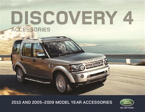 electronic toll collection 2005 land rover discovery on board diagnostic system 2005 2009 land rover discovery 4 accessories catalog brochure