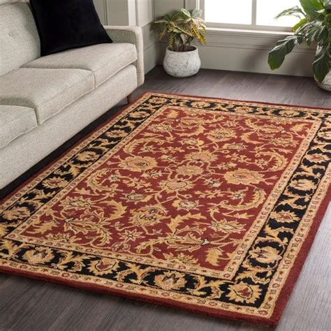 shop hand tufted ollie traditional border area rug