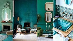 Salon Vert D Eau : d co salon bleu canard paon p trole du goudron et des ~ Zukunftsfamilie.com Idées de Décoration