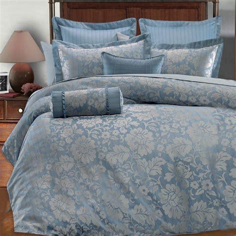 light blue and grey bedding 9pc light blue silver gray floral design comforter set